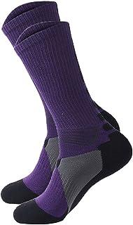 dragonaur 1 Pair Men Women Breathable Outdoor Riding Cycling Sports Socks Footwear size One Size Fit Most (Purple)