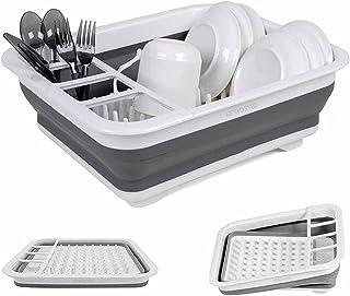 égouttoir à Vaisselle Pliable de Cuisine avec égouttoir - égouttoir à égouttoir Pliable - Organisateur de Vaisselle Portab...