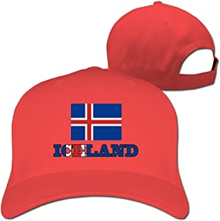 Iceland Flag Iceland Wordart Men Women Baseball Hats Ash