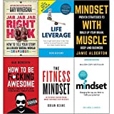 Jab, jab, jab, right hook, life leverage, mindset with muscle, how to be fucking awesome, fitness mindset and mindset carol dweck 6 books collection set
