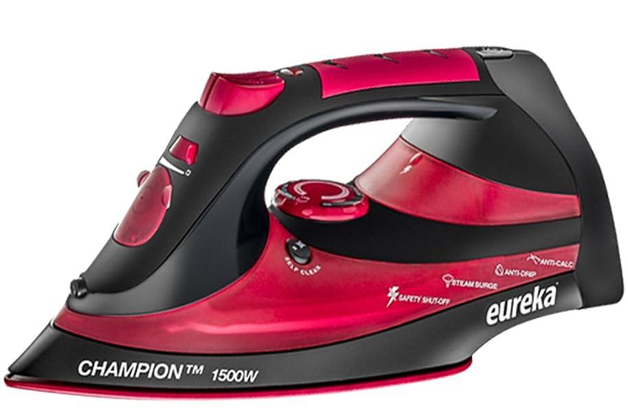 EUREKA ER15001 Champion 1500-Watt Micro Steam Iron Patent Nano Ceramic Soleplate with Auto-Off, Anti Drip, Red nybgbfbg0769