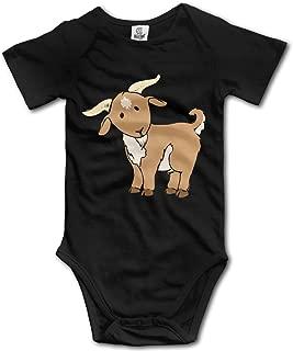Goat Cartoon Geek Short Sleeves Variety Baby Onesies Bodysuit for Babies