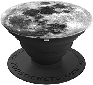 Moon Space: Full Moon Lunar Grey Phone Holder Knob PopSockets Grip and Stand for Phones and Tablets