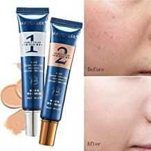 MAYCHEER Foundation Concealer Cream,2PCS Adjustable Base Foundation Makeup Cosmetics Adjustable Foundation Concealer for All Skin Types
