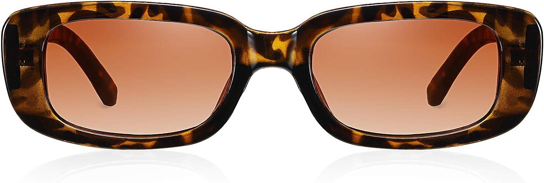 HILBALM 2 Pack Sunglasses for Women Classic Retro Designer Style Vintage Frame Glasses