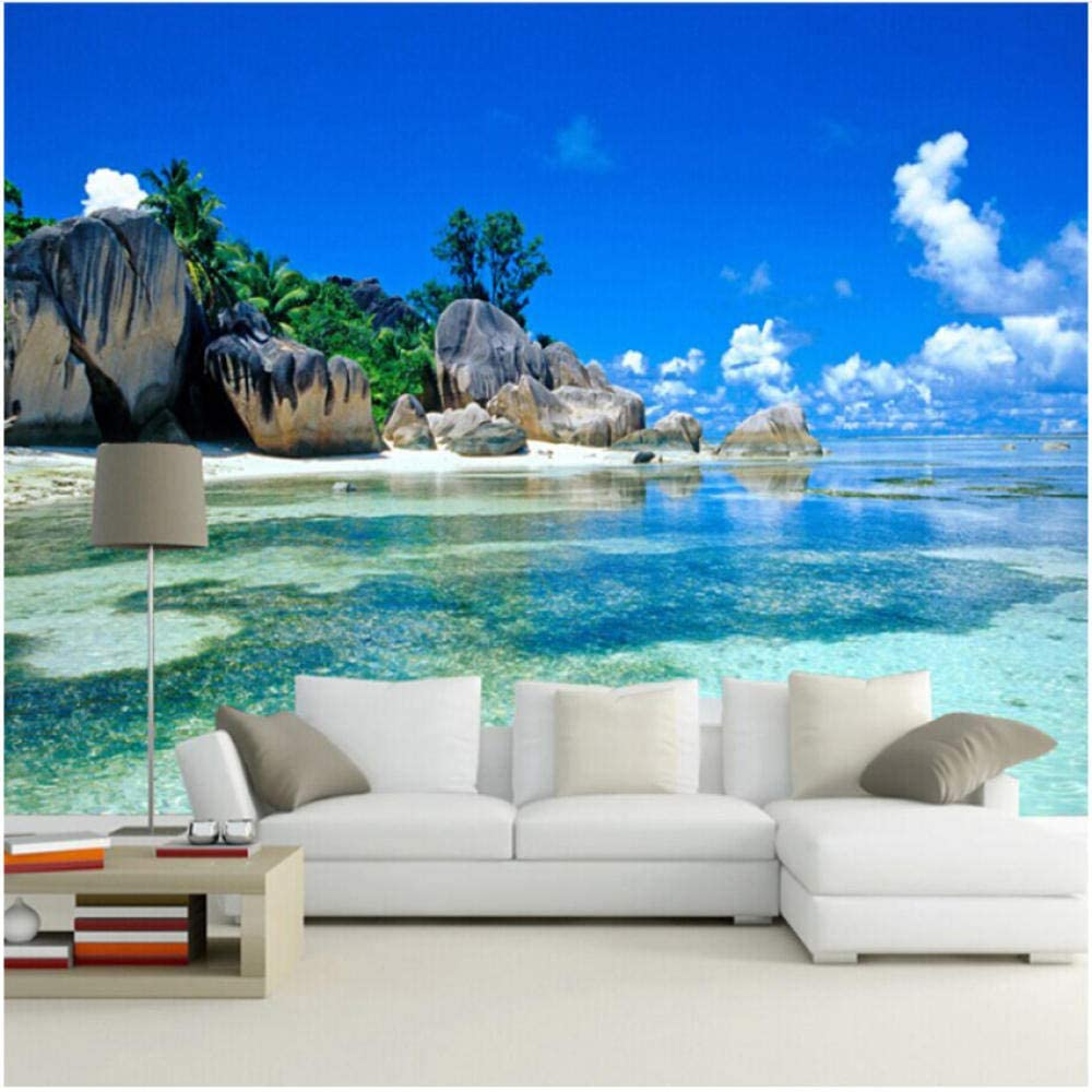 xbwy Los Free shipping Angeles Mall Mural Wallpaper Seaside Landscape Wall Tv Living Room
