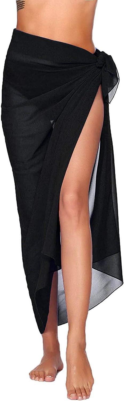 YUSDEE Summer Women Beach Swimwear Sarongs Wrap Chiffon Cover Ups for Swimwear Bikini Wraps Swimsuit