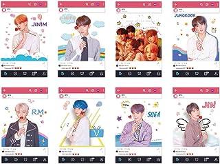 BTS BANTAN BOYS KPOP Transparent Photo Cards 8pcs FB Photocards Fans Cards BTS World Card (BTS2)