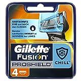 Ancienne Version/Gillette Fusion ProShield Chill Lames De Rasoir Pour Homme - 4Recharges