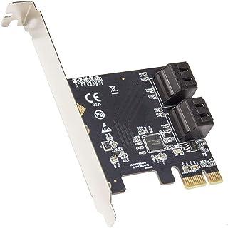 IO CREST 4-poorts SATA III PCI-e 3.0 x1 kaart Non-Raid met laag profiel beugel ASMedia 1064