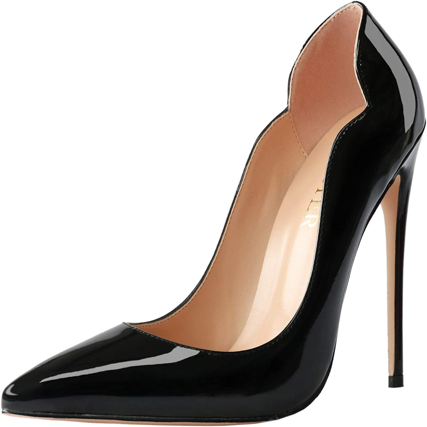 COLETER High Heels for Women 4.72 Pointed 12cm Toe Lowest price challenge Cheap inch S Dress