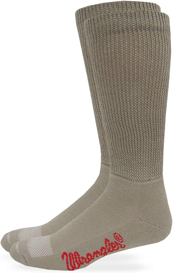 Wrangler Mens Non-Binding Ultra Dri Smooth Toe Boot Socks 1 Pair Pack