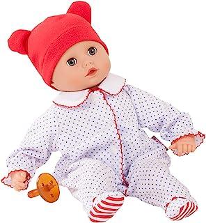 Götz Götz 1820529 Muffin Boy - Junge Puppe - 33 cm große Babypuppe mit blauen Schlafaugen und ohne Haare - 4-teiliges Set - Weichkörperpuppe ab 18 Monaten