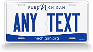 michigan front license plate