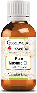 Greenwood Essential Pure Mustard Oil (Brassica juncea) with Glass Dropper 100% Natural Therapeutic Grade Cold Pressed 15ml (0.50 oz)