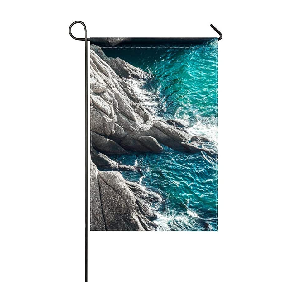 DongGan Garden Flag Rocks Sea Surf 12x18 Inches(Without Flagpole)