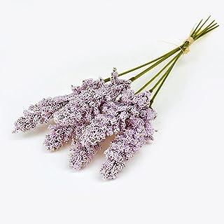 PAKUES-QO Faux Bouquet 6 Pcs/Lot 30 Cm Vanille Mousse Berry Spike Fleurs Artificielles Bouquet pour Mariage Maison Décorat...