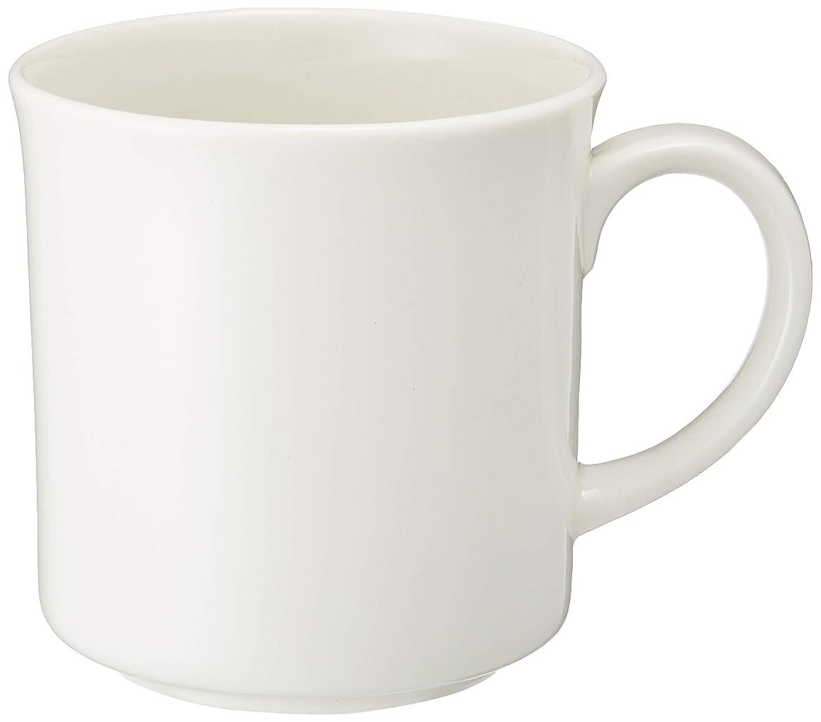 はさみ崩壊自発的森修焼(しんしゅうやき) マグカップ 白 直径85×高さ90mm 【日本製陶器?電子レンジOK?遠赤外線?マイナスイオン】