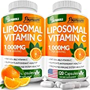 (2pack | 240 Capsules) Liposomal Vitamin C 1000mg - High Аbsоrptiоn Fat Soluble Аscоrbic Acid - Supports Immunе System - Collagen Booster - Anti Aging Skin Effect - Made in USA