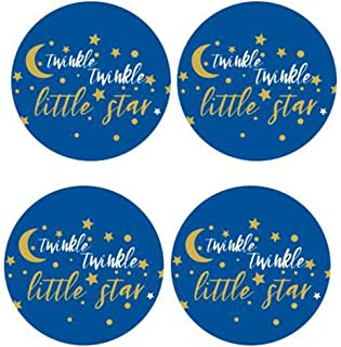 """50 Pack of 2"""" Round Twinkle Twinkle Litter Star Label Stickers Birthday Party Sticker Labels Candy Stickers for Birthday P..."""