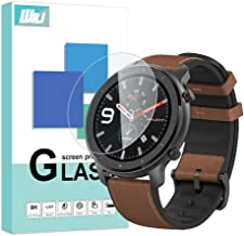 [4-Pack] WRJ Screen Protector for Amazfit GTR 47mm, HD Anti-Scratch Anti-Fingerprint No-Bubble 9H Hardness Tempered Glass with Lifetime Replacement Warranty