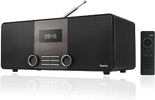 Hama DIR3010 Internet /Digitalradio (WLAN/LAN/DAB+/DAB/FM, 2,6 Zoll Display, mit Fernbedienung, USB Anschluss mit Lade  und Wiedergabefunktion, zwei Weckzeiten, Wifi Streaming, App) schwarz