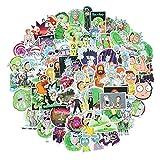 WayOuter Aufkleber Rick und Morty PVC Wasserdicht Vinyl Stickers Decals für Laptops, Autos, Motorräder, Tragbares Gepäck 100 Stücks