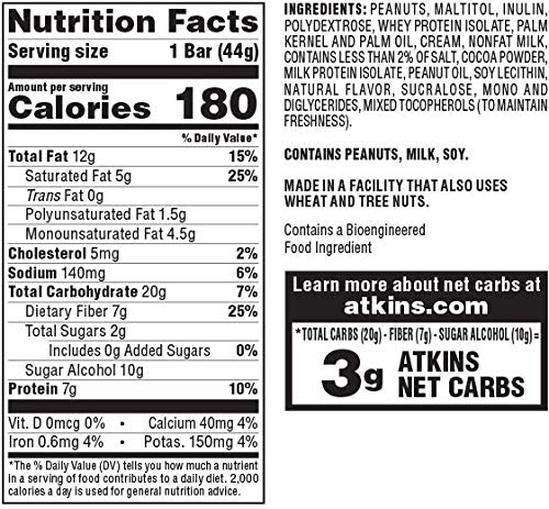 Atkins Snack Bar, Caramel Chocolate Nut Roll, Keto Friendly, 1.55 oz, 8 count 5