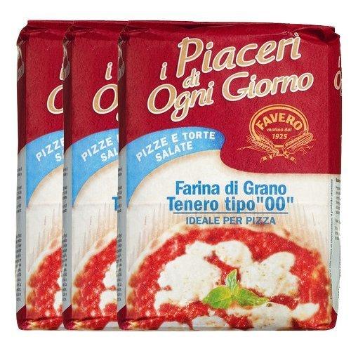 Favero Weizenmehl für Pizza, 3 x 1Kg
