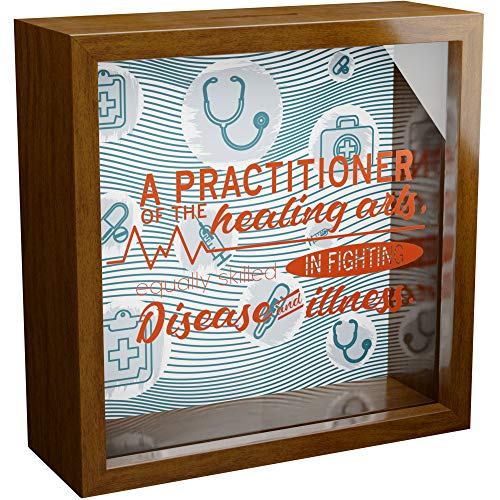 Doctor Gifts   6x6x2 Wooden Shadow Box Ideal for Doctors   Gift for Medical Student or Mentor   Retirement or Graduation Keepsake for Men or Women   Students and Professionals Wall Decorations