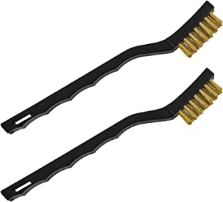 OFXDD Grill Metal Wire Brush - Pack of 2 - Iron Bristle Scrubber for Grills - Grill Cleaning