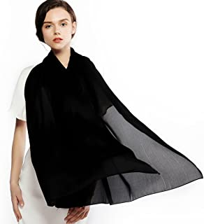 RIIQIICHY Silk Scarf for Women Feeling Silk Sunscreen Long Large Lightweight Satin Shawl Wrap Headscarf