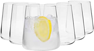 Krosno Gin-Gläser Wassergläser Weißweingläser Trinkgläser | Set von 6 | 380 ML | Avant-Garde Kollektion | Perfekt für zu Hause Restaurants und Partys | Spülmaschinenfest und Mikrowellengeeignet
