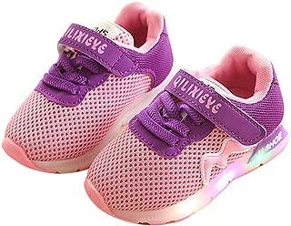 Super color LED Light up Shoes Kids Girls Boys Breathable Flashing Non-Slip Luminous Sneakers