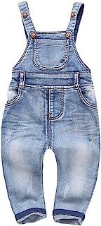 Kidscool Baby & Little Boys/Girls Plaid Lining Denim Overalls Jeans