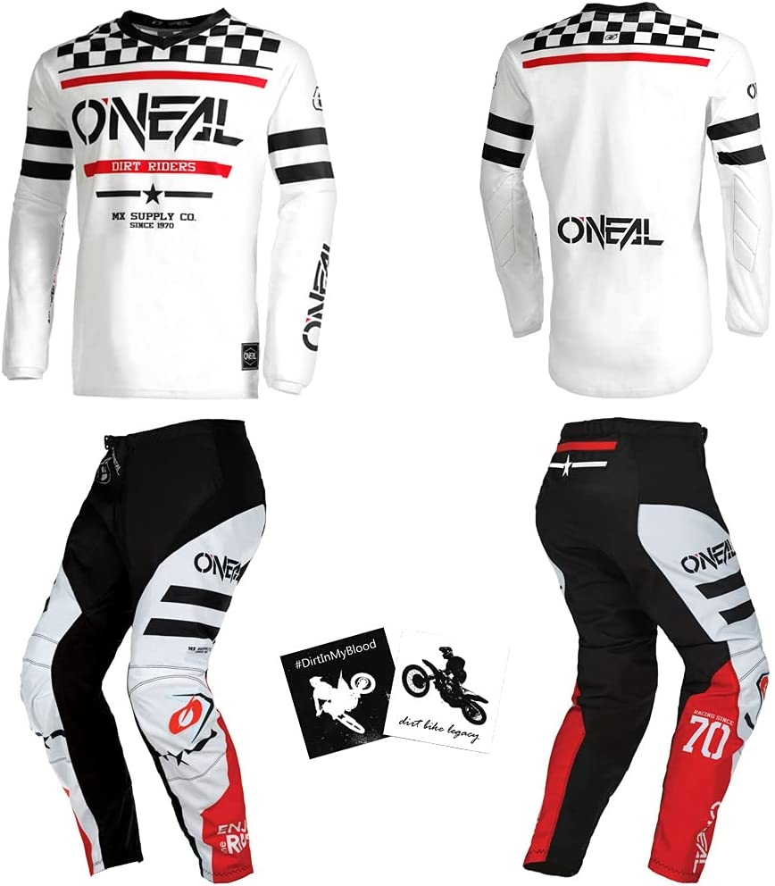 O'Neal Element Squadron White Men All stores are sold Ranking TOP3 W34 Prot Powersports X-Large