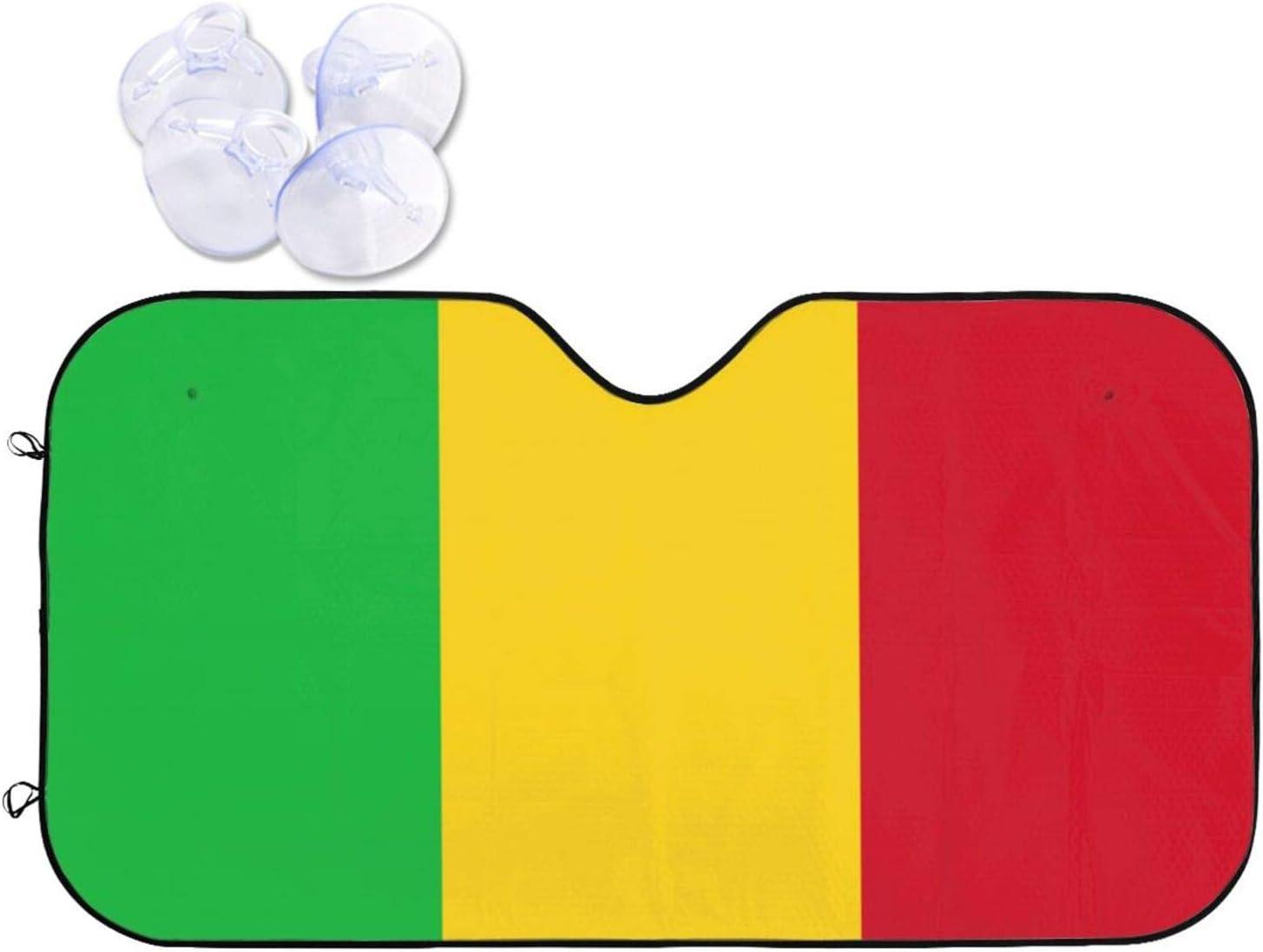Flag of cheap Mali Car Over item handling ☆ Windshield Cov Uv Protection Sun Sunshade-Block