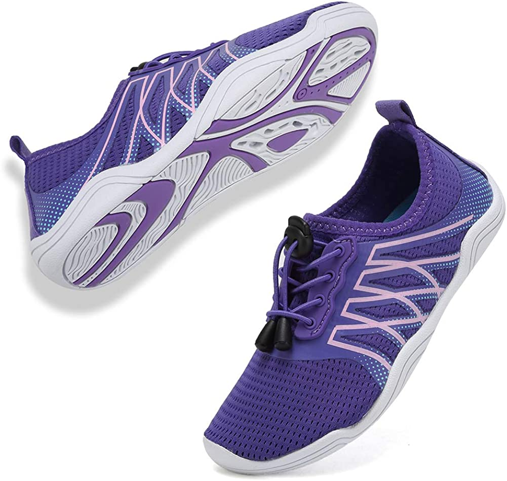 CIOR Boys & Girls Water Shoes Quick Drying Sports Aqua Athletic Sneakers Lightweight Sport Shoes(Toddler/Little Kid/Big Kid) DKSX-04.purple-30