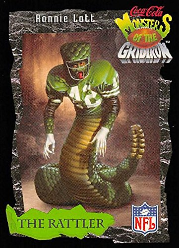 Ronnie Lott Football Card (49ers, Jets) 1994 Monsters of the Gridiron 'The Rattler' #23