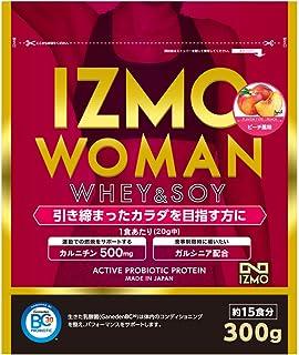 アルプロン IZMO イズモ WOMAN 女性用 ホエイプロテイン + ソイプロテイン 300g ピーチ風味 生きた乳酸菌BC-30配合(国内生産)