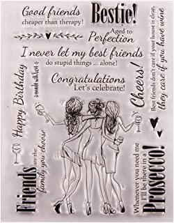 SprinZ Sexy Girls Silicone Clear Stamp Seal DIY Scrapbook Embossing Album Decor Craft Art,Perfect for DIY Greeting Card Notebook Invitation Card