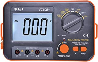 VICI VC60B+ Digital Insulation Resistance Tester Megohmmeter Meter Full Function with Large LCD Display