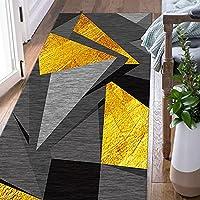 廊下の滑り止めのカーペット、幾何学的に長いカーペット、洗える注文可能なフロアカーペット、ドアマットの洗濯の入口の玄関の装飾、幅: 60/80/90/100/120/cm(Size:120x500cm)