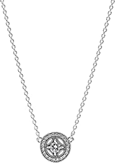 Pandora Women's Silver Pendant Necklace - 590523CZ-45