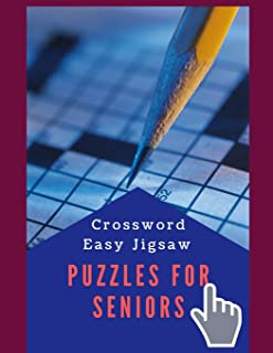 Crossword Easy Jigsaw Puzzles For Seniors: Brain Games - Lower Your Brain Age - Crosswords, Fun & Easy Crosswords Award, easy crossword puzzles crosswords in easy-to-read