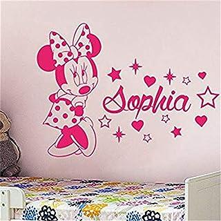 Sticker mural Mouse stickers muraux nom personnalisé nom personnalisé enfants enfants chambre de bébé chambre décoration d...