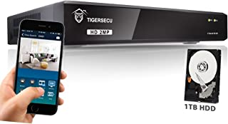 TIGERSECU Super HD 1080P 4-Channel DVR Video Security Recording System with 1TB Hard Drive (Cameras Not Included)