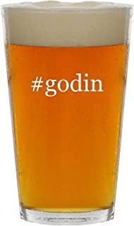 #godin - 16oz Hashtag Clear Glass Beer Pint Glass