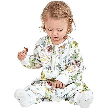 B/éb/é Gigoteuses 1.5 Tog Sac de couchage pour Bambin avec Des Jambes Fermeture /à Glissi/ère Devant 1-3 Ans