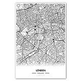 Zulumaps Poster 20x30cm Stadtplan London - hochwertiger